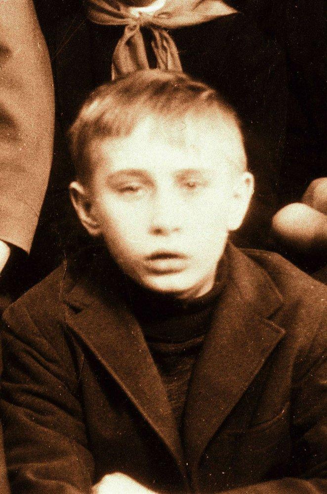 Vladimir Putin jako školák.