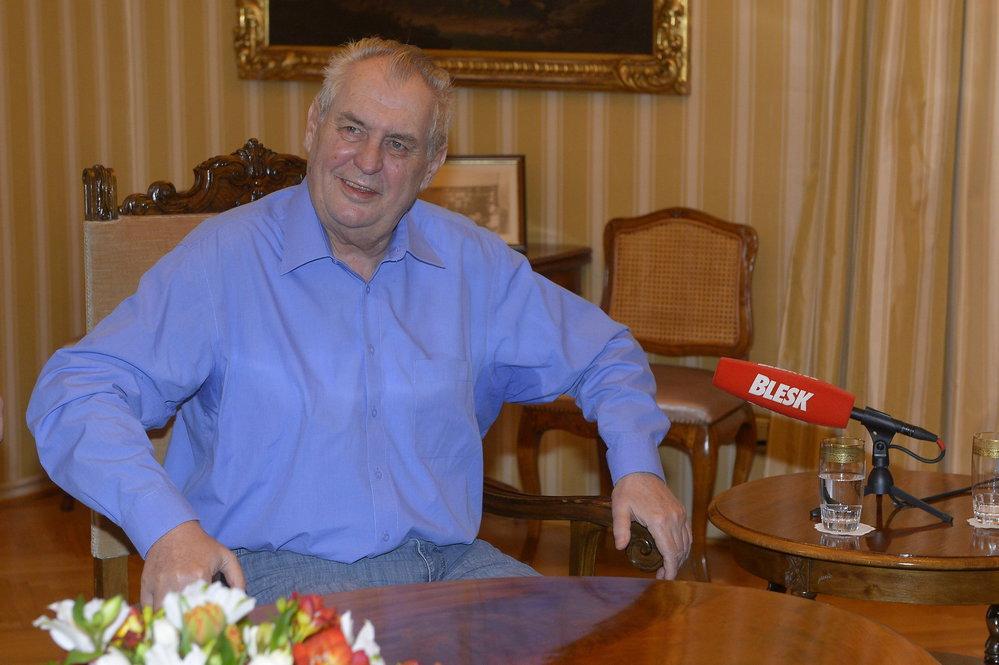 Miloš Zeman během 10. dílu pořadu S prezidentem v Lánech (12. března 2017)