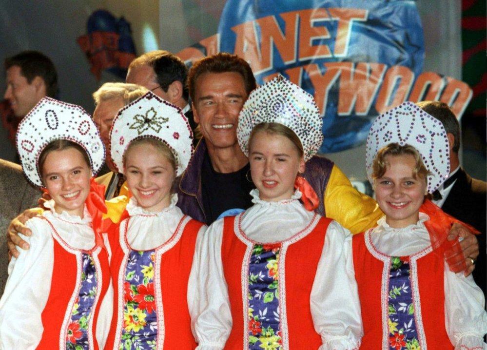 Arnold Schwarzenegger na návštěvě Ruské federace v roce 1996