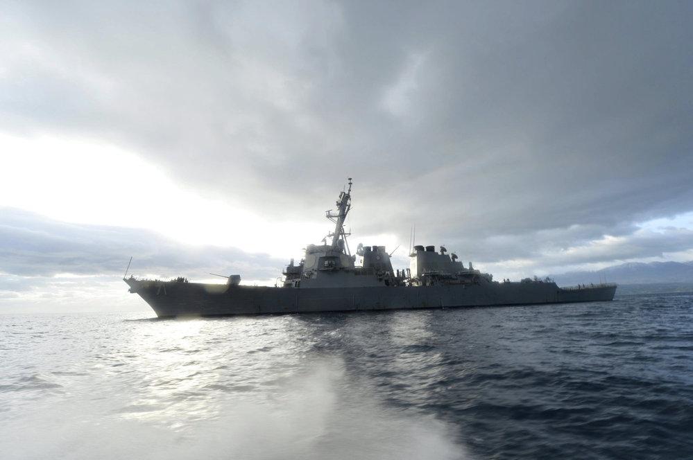 Americká loď nedaleko Sýrie.