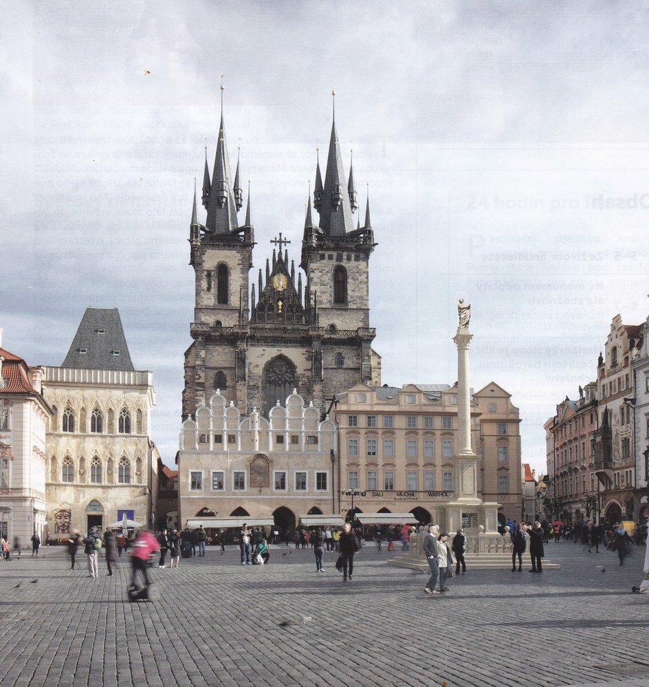 Vizualizace obnoveného mariánského sloupu na Staroměstském náměstí.