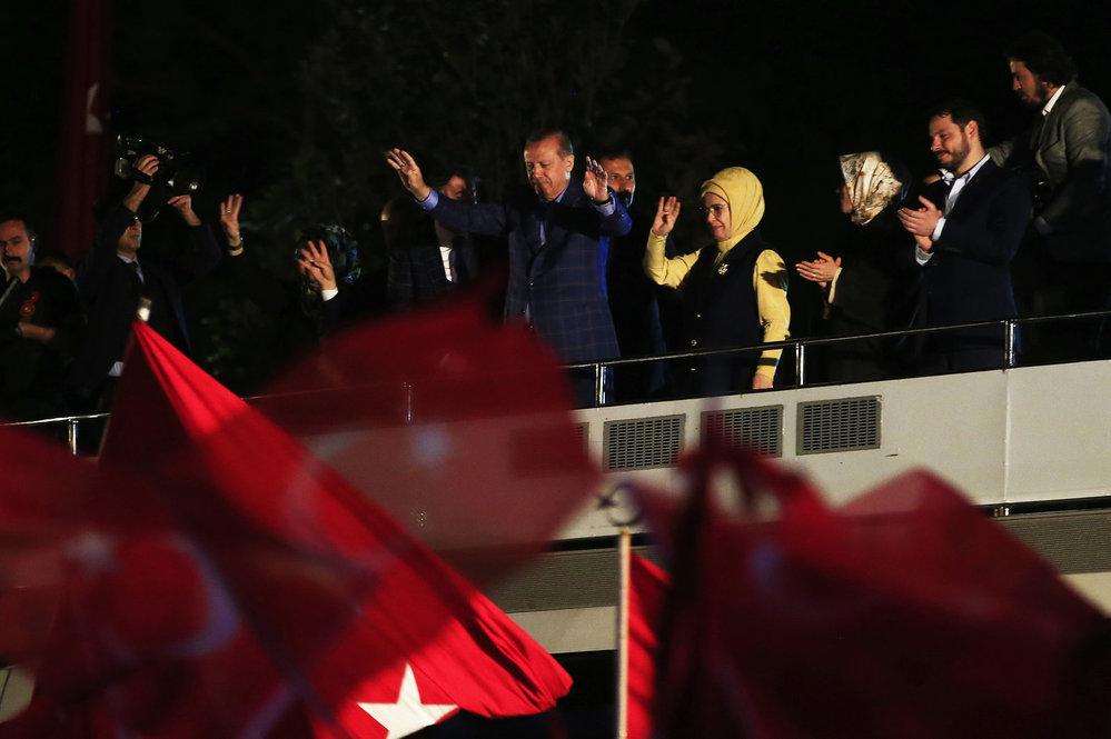 Turecký prezident po ústavním referendu.