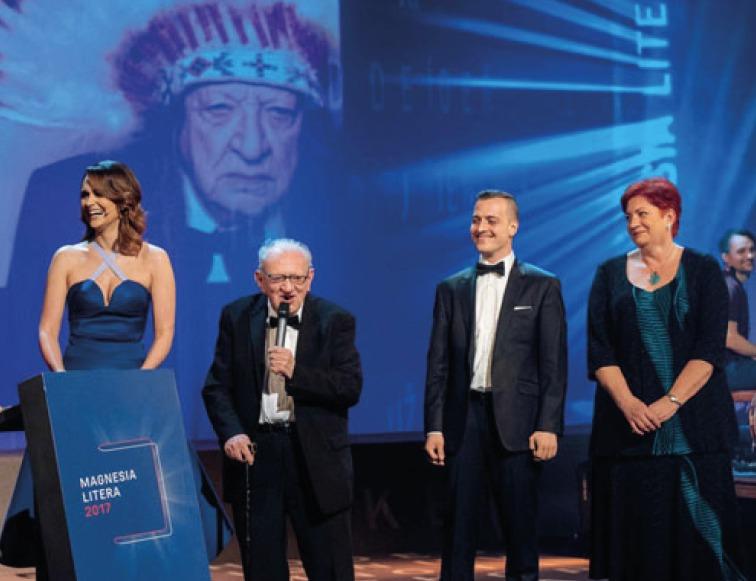 Předávání cen Magnesia Litera 2017, Adam Chroust získal cenu za nakladatelský čin.