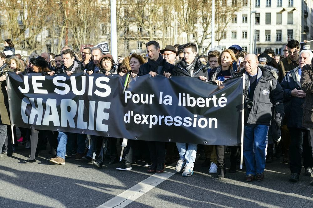 Útok na Charlie Hebdo v lednu 2015.