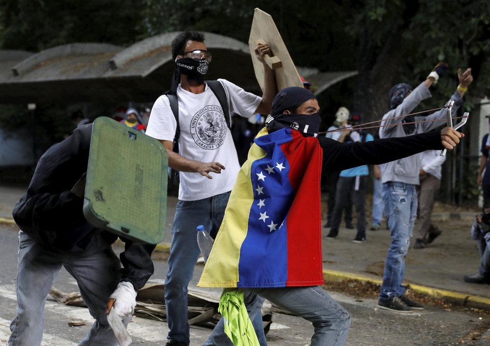 Masivní protesty proti Venezuelskému prezidentovi