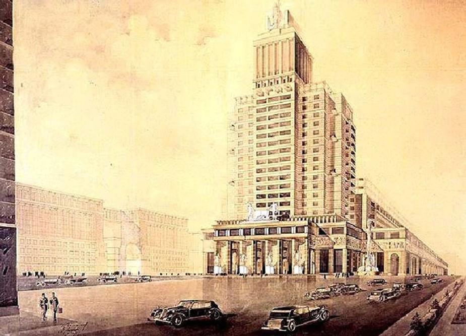 Dům knihy podle představ architekta Golosova.