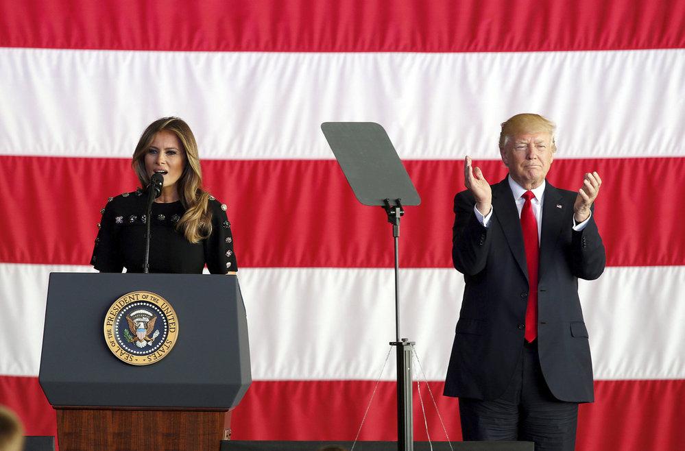 Donald Trump a první dáma Melania Trumpová v Itálii