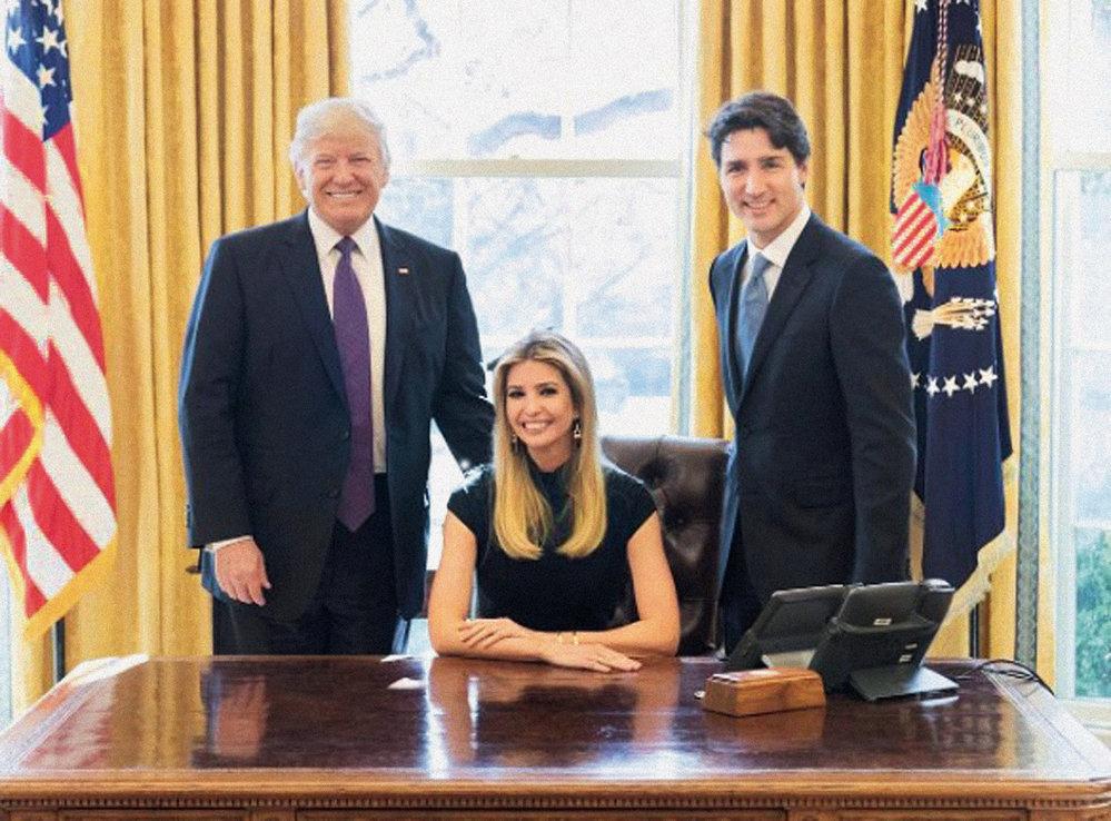 První dáma Ameriky s otcem a manželem