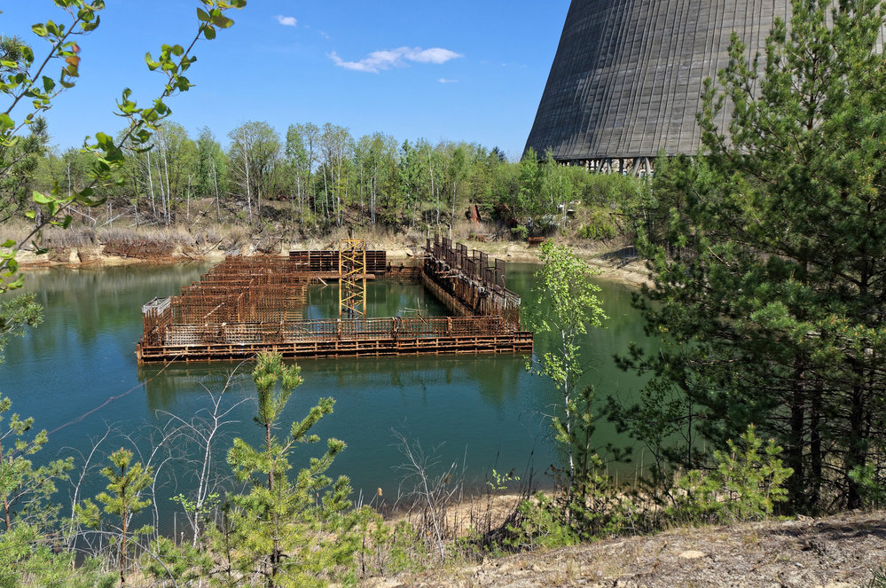 kanály přivádějící chladicí vodu pro reaktory v Černobylu