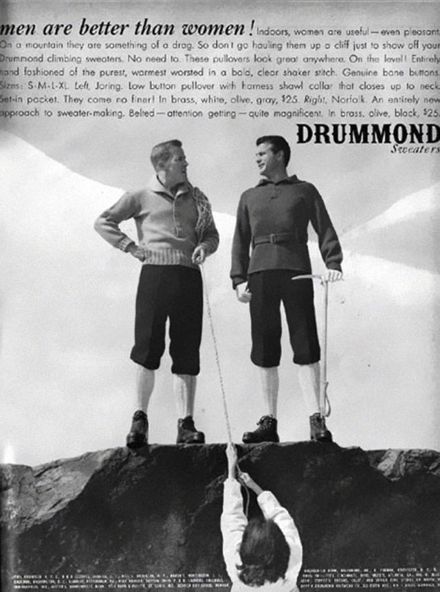 13. Značka Drummond, reklama na svetry: Muži jsou lepší než ženy!