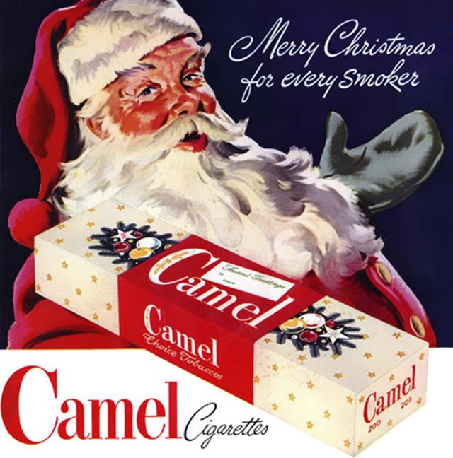 4. Reklama na vánoční cigarety Camel: Hezké vánoce pro všechny kuřáky.