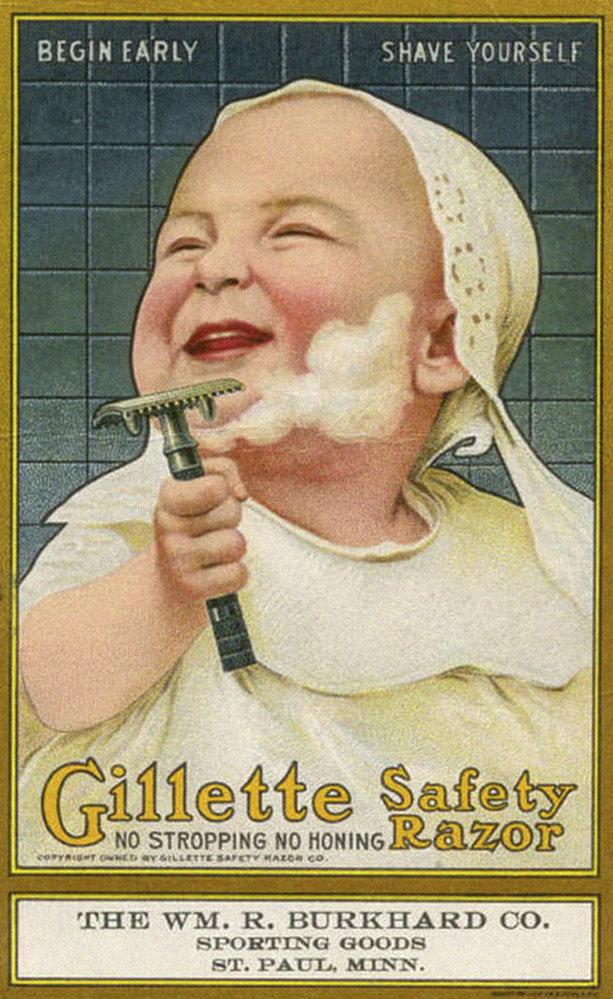 8. Reklama s dítětem na žiletky Gillette: Začněte brzy, bezpečné holení.