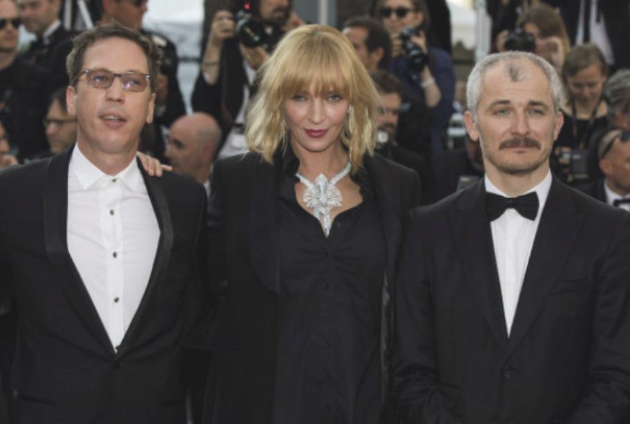 Umu Thurman doprovázel Karel Och na červeném koberci festivalu v Cannes.