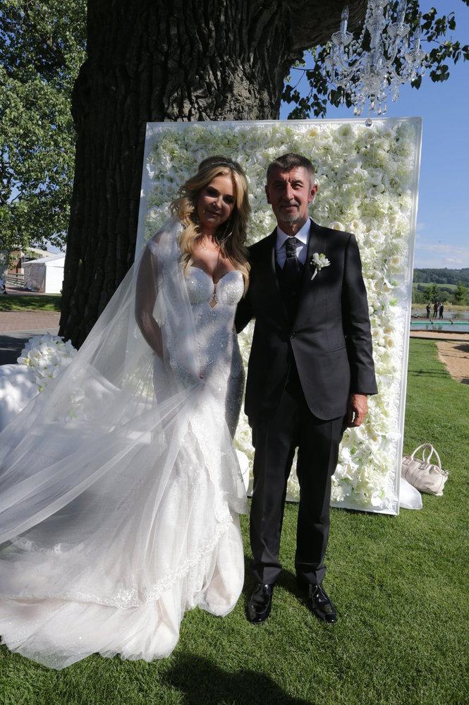 Svatba Andreje a Moniky Babišových.
