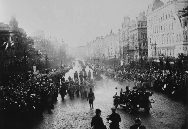 Příjezd prezidenta T. G. Masaryka do Prahy, prosinec 1918.