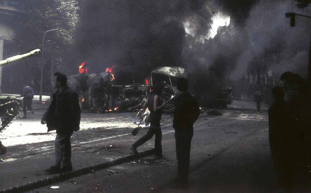 Unikátní barevné fotografie Jiřího Chrastila z vpádu vojsk Varšavské smlouvy do Československa 21. srpna 1968