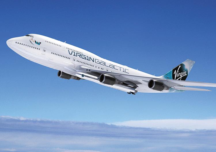 Speciálně upravené letadlo Boeing 747-400, kterému se přezdívá Cosmic Girl