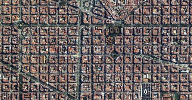 Čtvrť v Barceloně postavená v polovině 19. století.