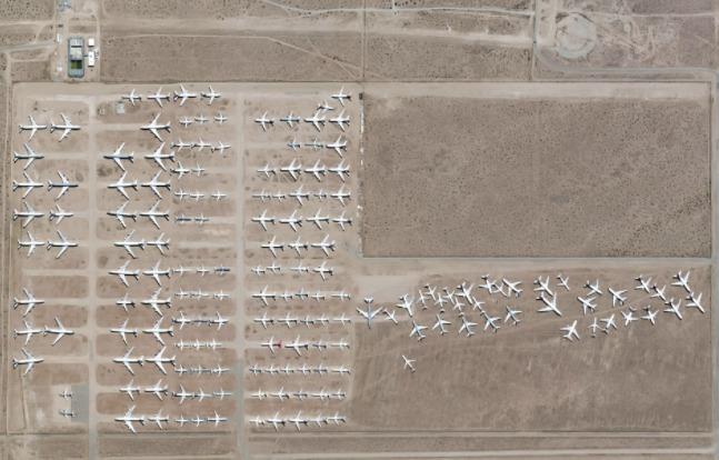 Letiště v Jižní Karolíně, na kterém jsou vraky letadel, které se prodávají na náhradní díly.