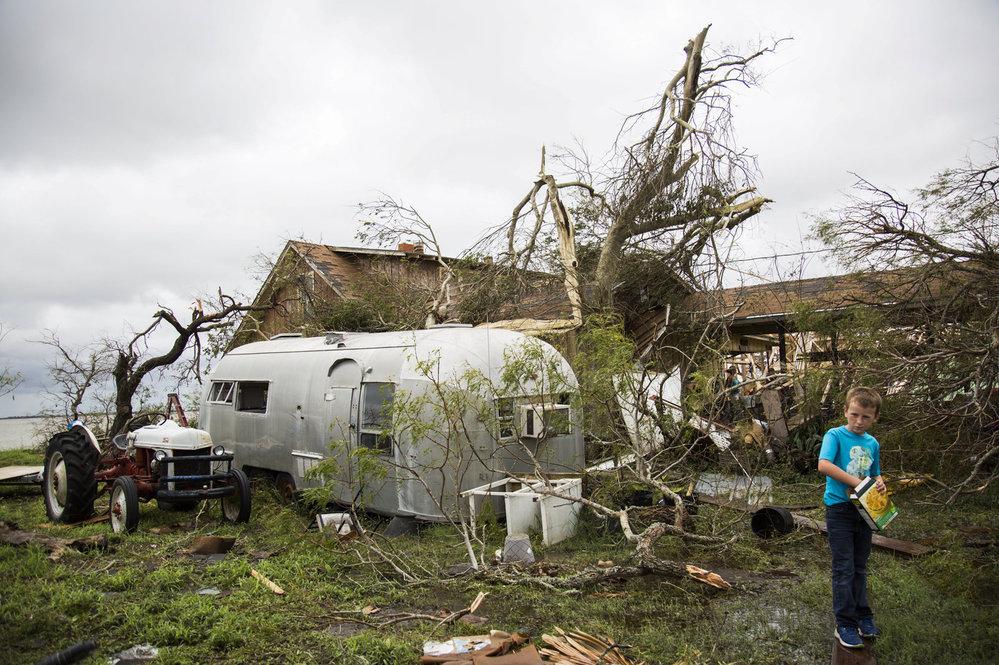 Americký stát Texas sužuje hurikán Harvey