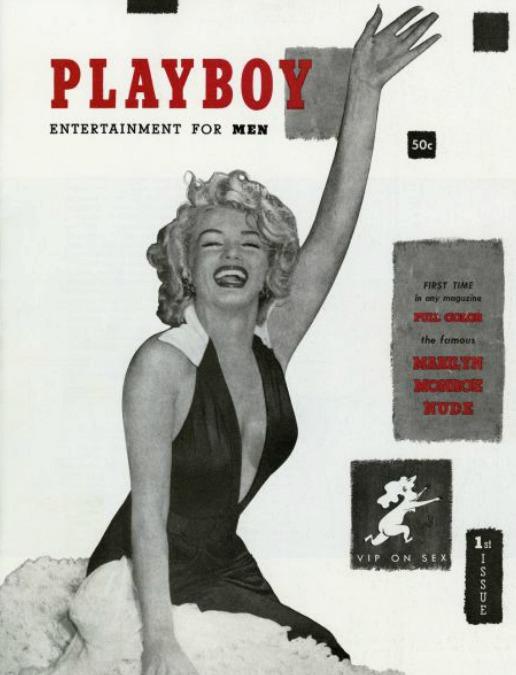 1953: Na obálce prvního čísla Playboye byla Marilyn Monroe.