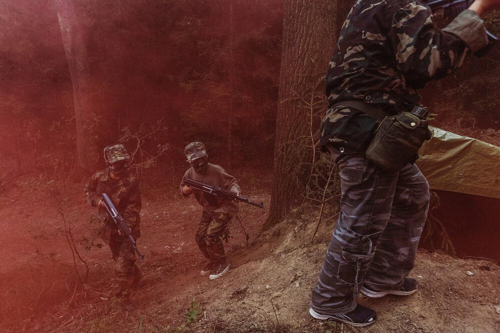 Dětský vojenský tábor STAS (Problémy dnešní doby, série) • FOTO: Petr Topič, Mafra, a. s.