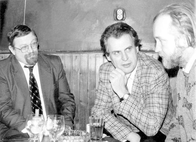 Daniel Kroupa s Milošem Zemanem v roce 1991