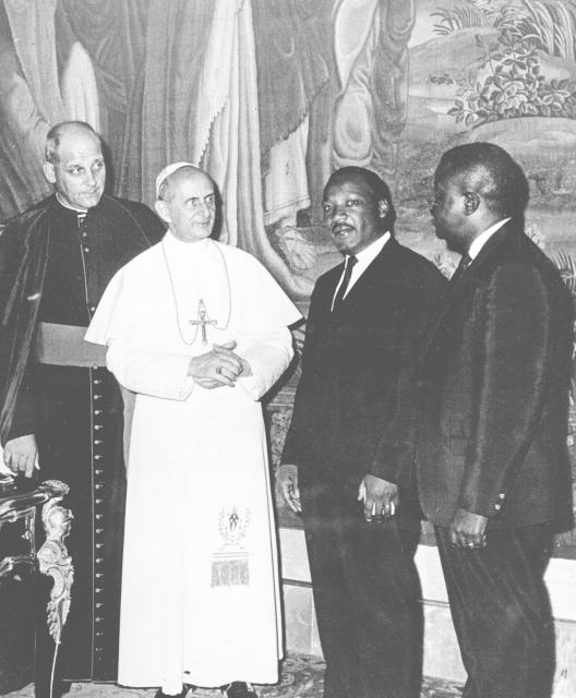 Martin Luther King s papežem Pavlem VI.
