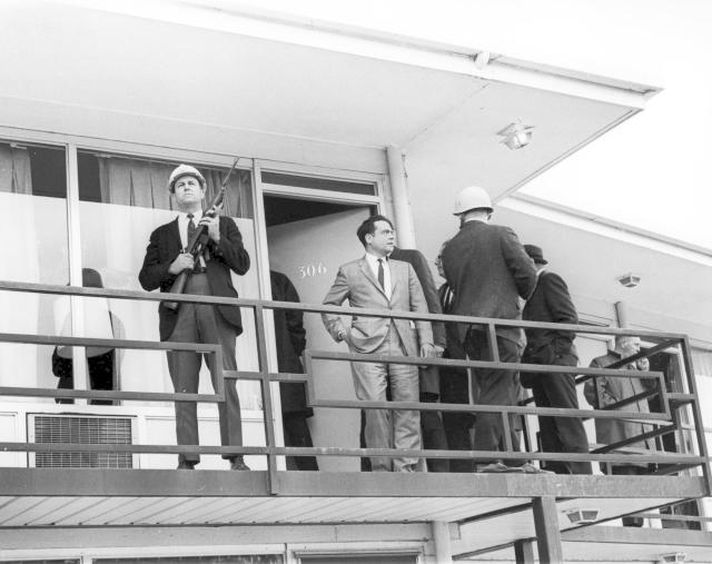 Hotelový balkon, kde byl King postřelen