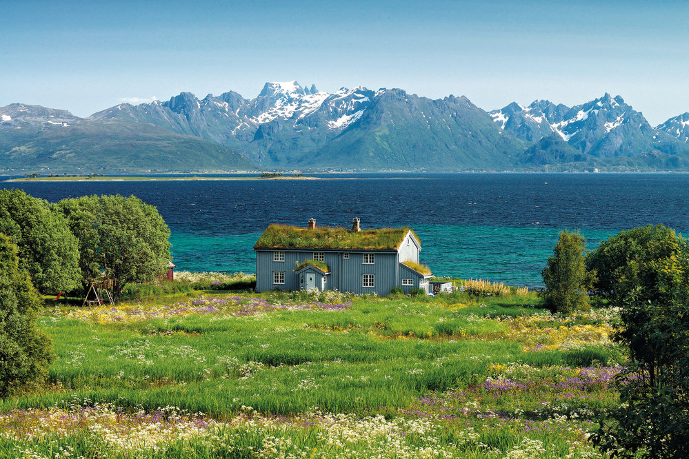 Rurální idyla Vesterál, ostrov Hadseløya