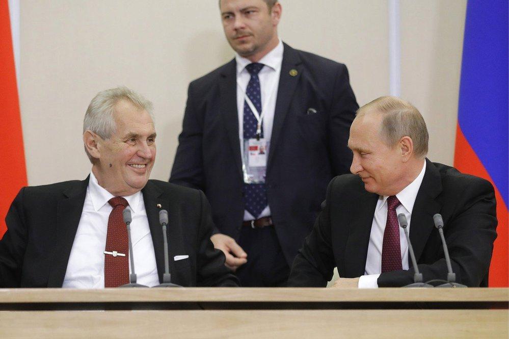 Miloš Zeman, Vladimir Putin