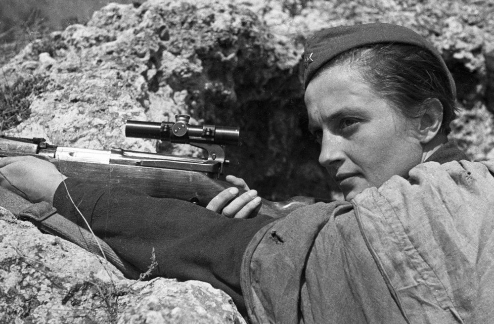 Hrdinka od Sevastopolu odstřelovačka Ljudmila Michajlovna Pavličenková.