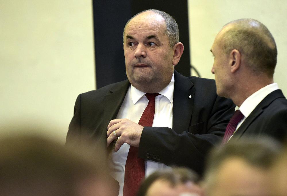 Bývalý předseda Miroslav Pelta na valné hromadě FAČR