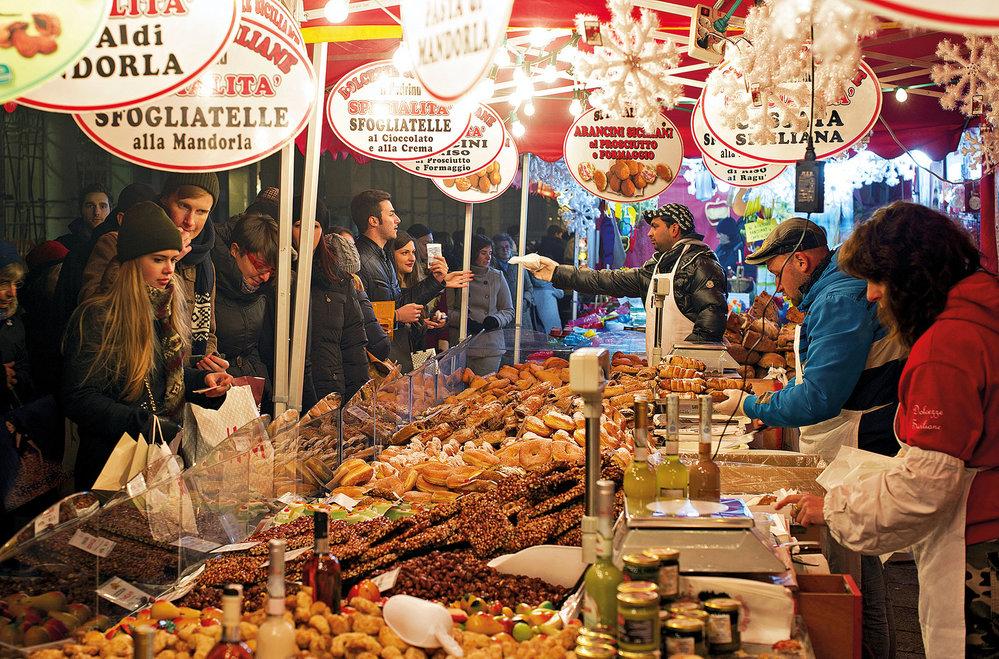 Vánoční trhy se sladkostmi