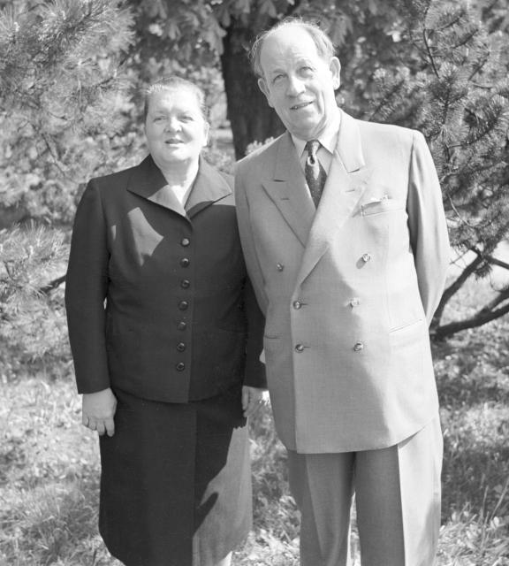 Marie Zápotocká s manželem