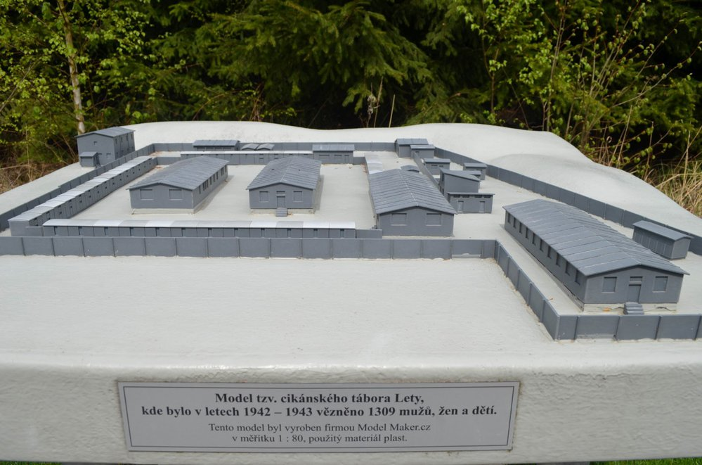 Model koncentračního tábora v Letech u Písku.