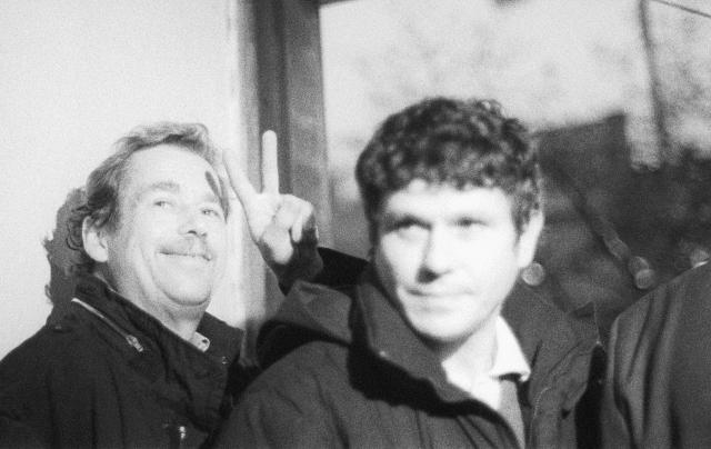 Václav Havel a Václav Malý v roce 1989