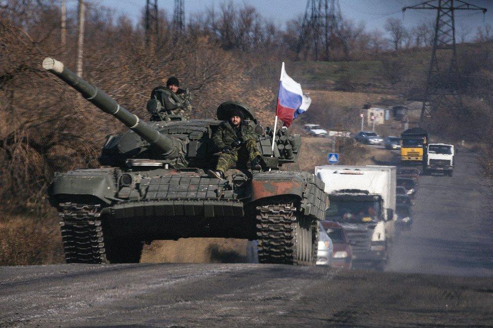 """Ruský """"humanitární konvoj"""" na Ukrajinu (rok 2014)."""
