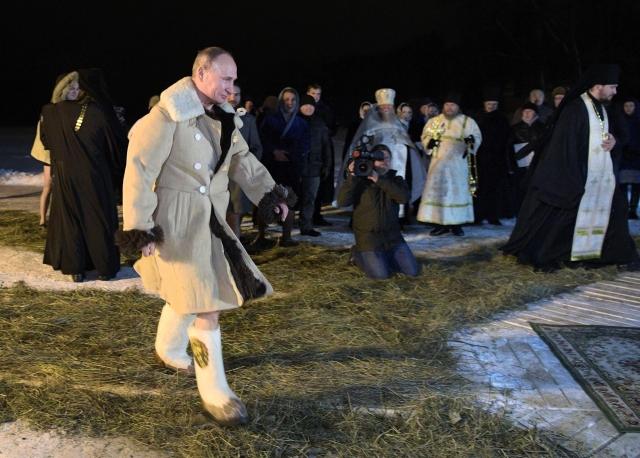 Vladimir Putin slaví v Rusku svátek Zjevení Páně.