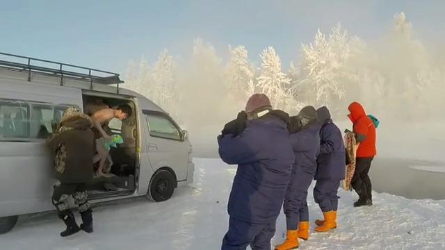 Japonský turista vlezl při minus 60 °C do řeky v ruském Ojmjakonu.