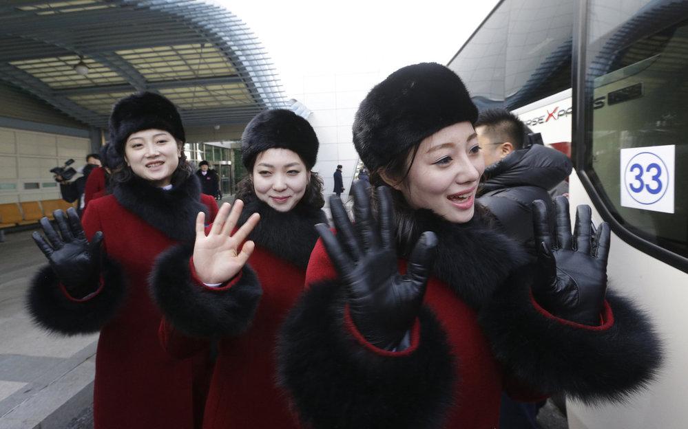 Severokorejské roztleskávačky.