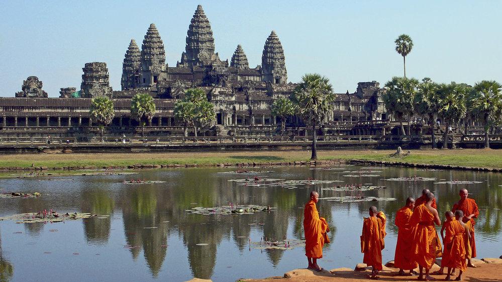 Hlavní město Khmérského království Angkor je do současnosti jednou z nejvýznamnějších turistických atrakcí Kambodži.