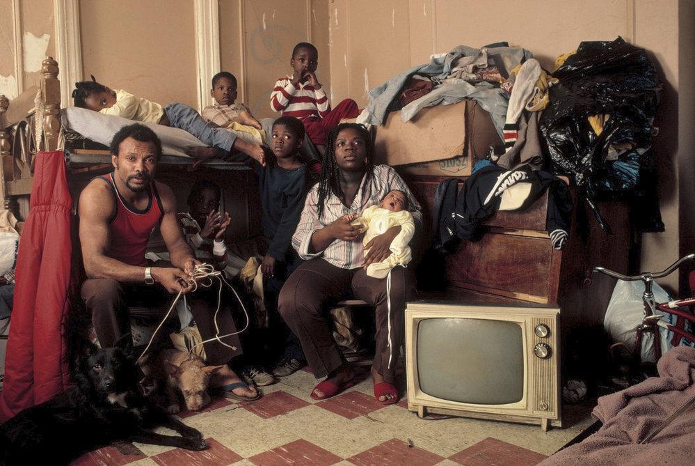 Rodina v Brooklynu.