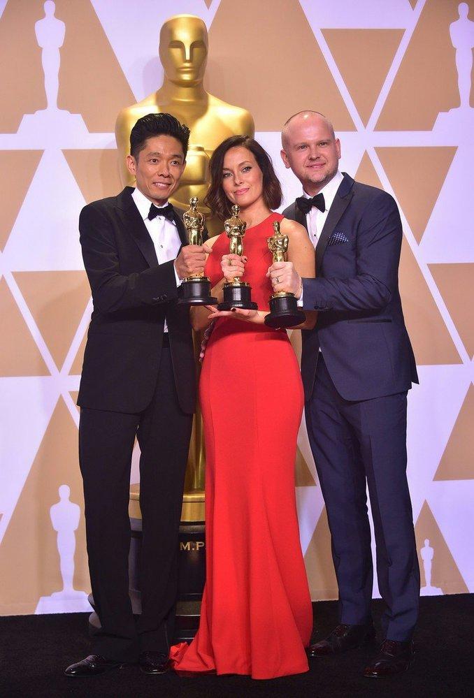 Kazuhiro Tsuji, Lucy Sibbick a David Malinowski zvítězili v kategorii nejlepších masek.