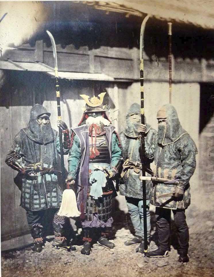 Samurajové s naginatami roku 1870