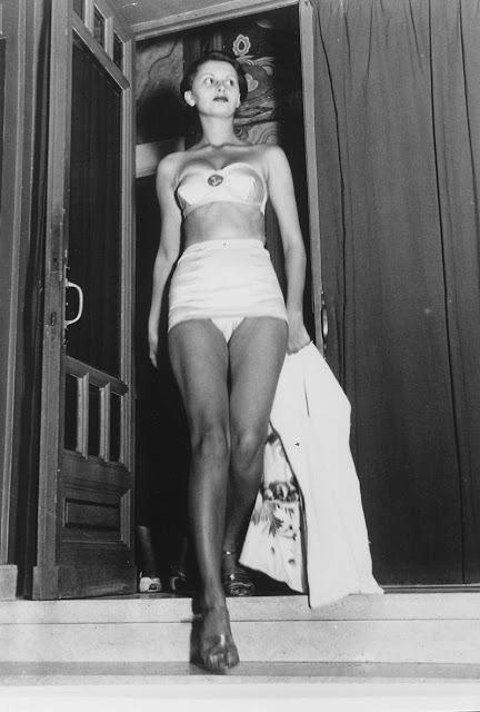 Mladá Sophia Lorenová v roce 1950 na soutěži Miss Itále