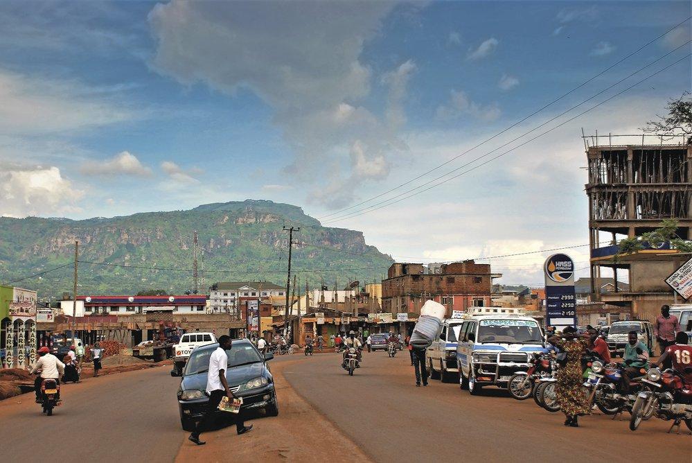 Mbale je typické africké město, moc času se vám tu trávit nechce
