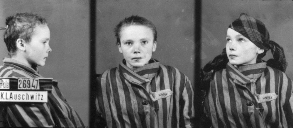 Czeslawa Kwoka na snímku po příchodu do Osvětimi