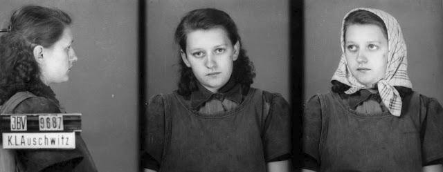 Snímky vězňů z Osvětimi