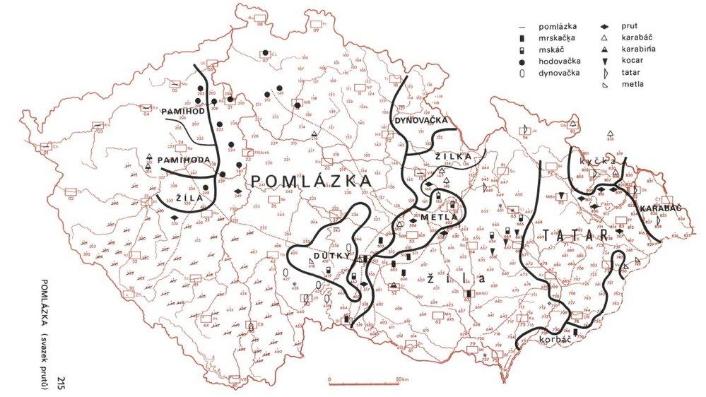 Pro pojmenování spletených proutků se používají především tři hlavní výrazy: české pomlázka, východomoravské a slezské tatar a západomoravské žila.
